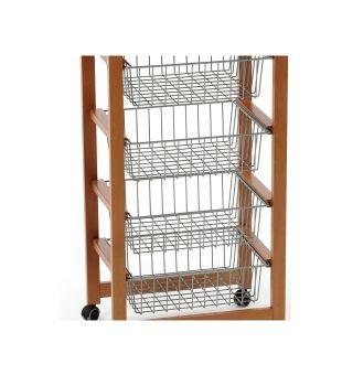 Basket kitchen trolley grey