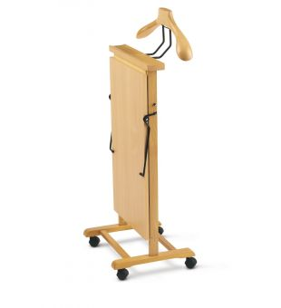 Clothes valet in natural wood