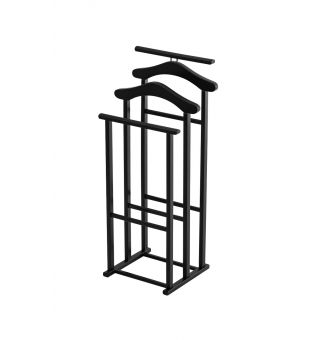 Clothes valet in black wood