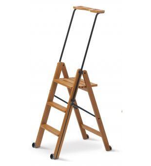 Domestic ladder in cherry wood