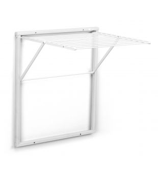 Wall drying rack in white wood