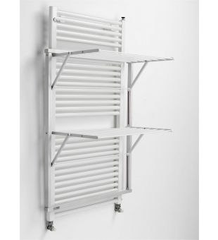 Radiator clothes airer in white wood