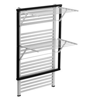 Radiator clothes airer in black wood